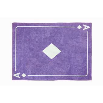 ARATEXTIL TAPIS POUR CHAMBRE ENFANT 100% Coton Violet - Motif Carte ...