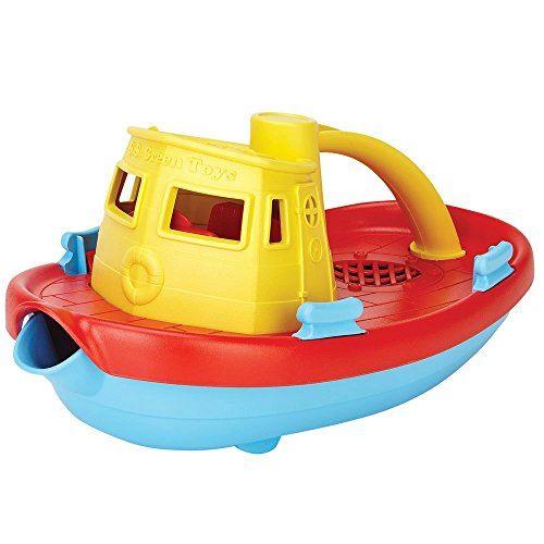 Jouets verts Mon premier remorqueur - BPA, jouets de bain sans phtalates pour les enfants et les tout-petits. Jouets et jeux