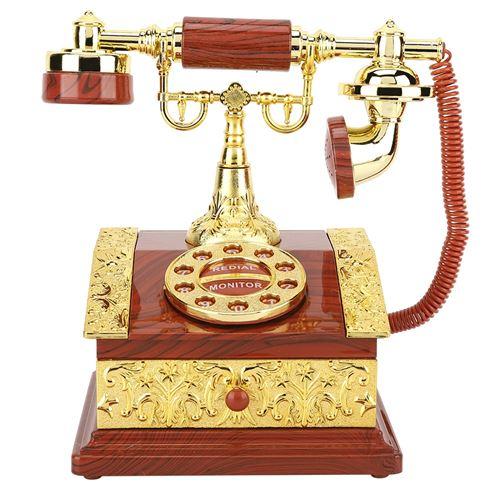 Boîte à musique Rétro composition téléphone boîte de rangement à bijoux