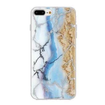 coque iphone 7 marbre bleu