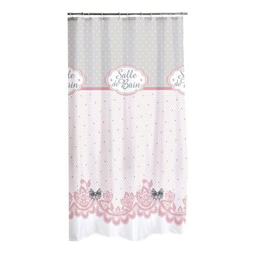 rideau de douche polyester 180*h200cm charme