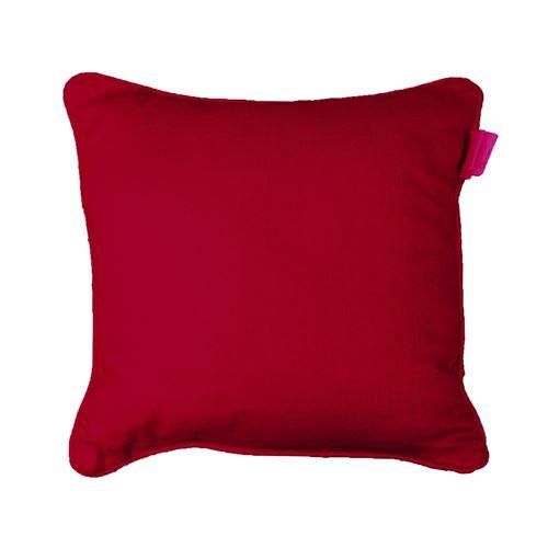 Coussin passepoil 60 x 60 cm coton uni panama Rouge