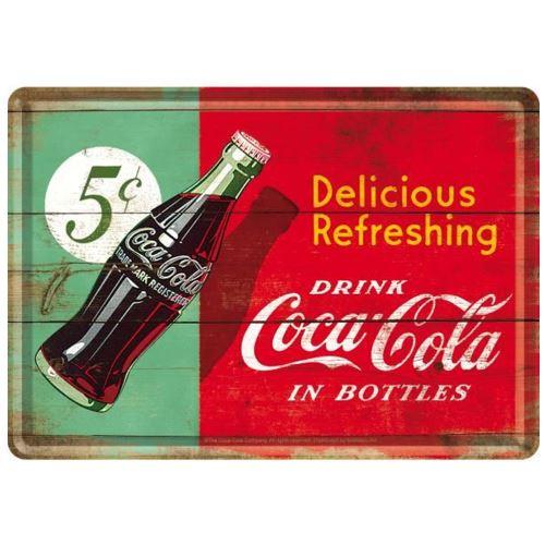 Petite plaque métallique Coca-Cola
