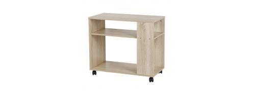 meuble de rangement avec 2 Étagères en bois MDF 70*35*61cm-marron
