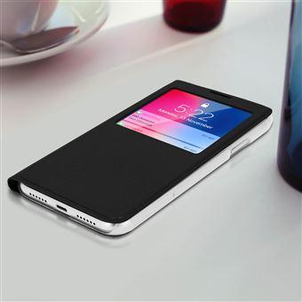 iphone xr coque a rabat transparente