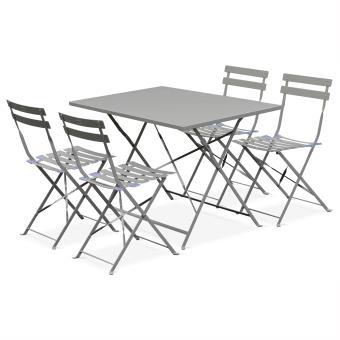 27 sur salon de jardin bistrot pliable emilia gris 110x70cm alice 39 s garden mobilier de. Black Bedroom Furniture Sets. Home Design Ideas