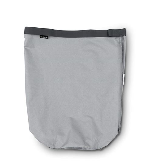 Brabantia Sac intérieur de rechange pour panier à linge, gris, 35 l, Coton, gris, 60 Litre