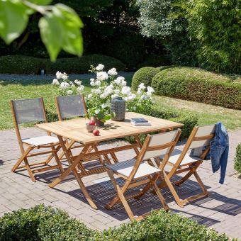 Salon De Jardin En Bois Dacacia Fsc 4 à 6 Places Mobilier De