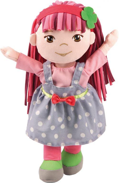 Bayer câlin poupée Rag Doll Soft Friends de Rag Doll Soft Friends 30 bleu clair / rose cm