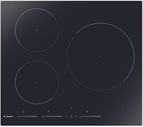 Candy CIS633MCTT - Table de cuisson à induction - 3 plaques de cuisson - Niche - largeur : 56 cm - profondeur : 49 cm - noir