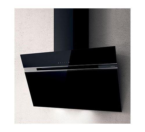 Hotte décorative inclinée - 603 m3/h - L50cm - Noir