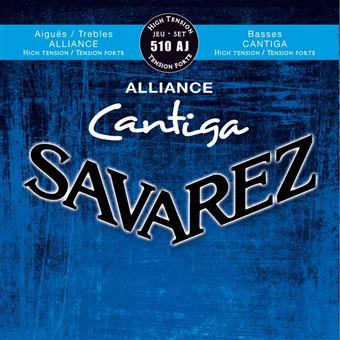 Savarez 510CJ Cristal Cantiga Tirant fort Jeu de cordes guitare classique