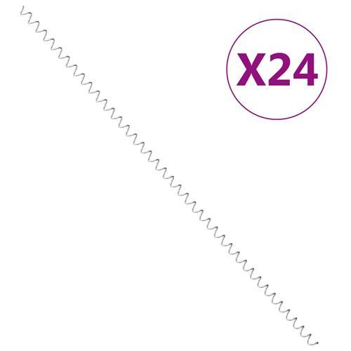 Chunhe Spirales de gabion 24 pcs Acier galvanisé 100 cm AB145627