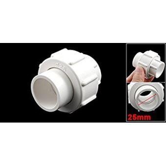 25/mm PVC Water Pipe Tube adaptateur connecteur coupleur Blanc