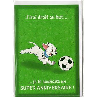 Carte D Anniversaire Les 101 Dalmatiens Sport Football Enfant 21 Jeux D Eveil Achat Prix Fnac