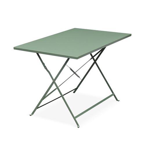 Salon de jardin bistrot pliable - Emilia rectangulaire vert ...