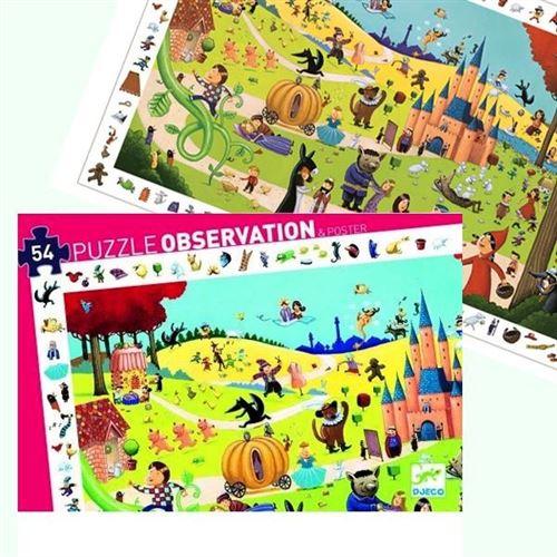 Puzzle Djeco Observation Contes 54 Pcs 4 Ans +