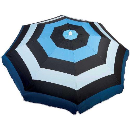 Parasol 180cm noir/bleu