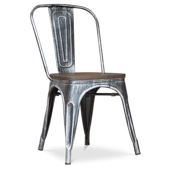 109EUR Sur Chaise Factory Assise En Bois