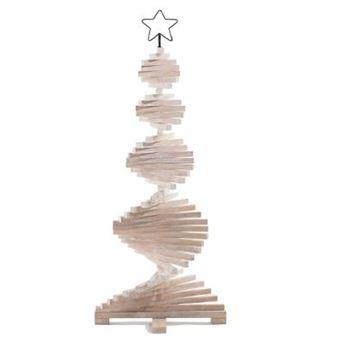 Acheter Sapin De Noel En Bois Sapin de noël articulé en bois coloris naturel   Dim : D.48 x H