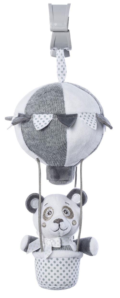 Saro figure suspendue montgolfière avec hochet ours gris