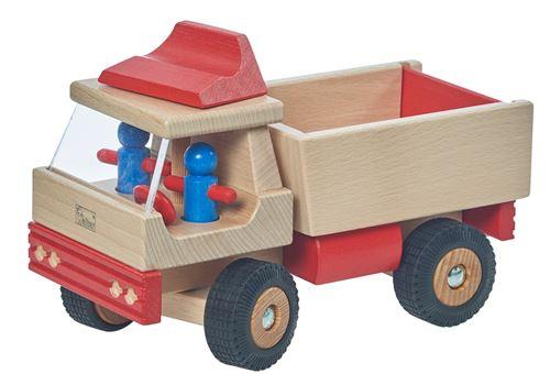 Walter camion 25 cm bois clair/rouge