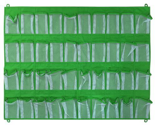 ACHOKA organiseur mural 40 poches 81 x 105 cm vert