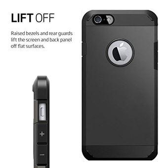 Coque Armor Iphone 6 6S Antichoc Solide et Rigide Noir