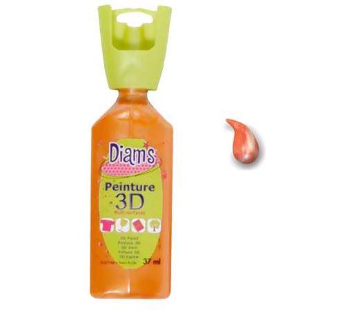 Peinture Diam's 3D 37 ml - Nacré - Orange - Diam's