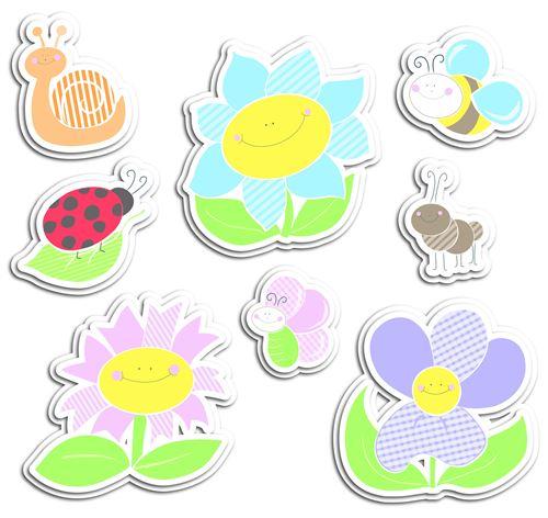 Kids Decor décoration murale en mousse Fleurs junior 8 pièces
