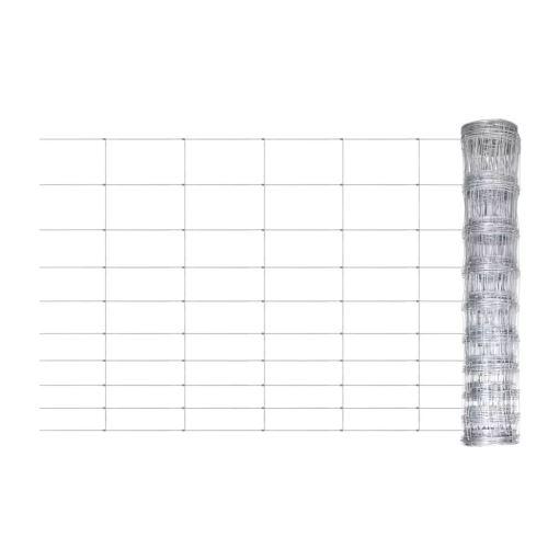 Clôture de jardin Grillage galvanisé pour plantes et animaux Longeur: 50m Hauteur: 120 cm Version mise à jour