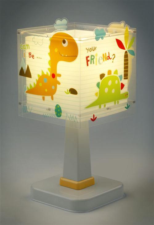 Dalber Lampe de table Dinos lueur dans les 29 cm noir blanc