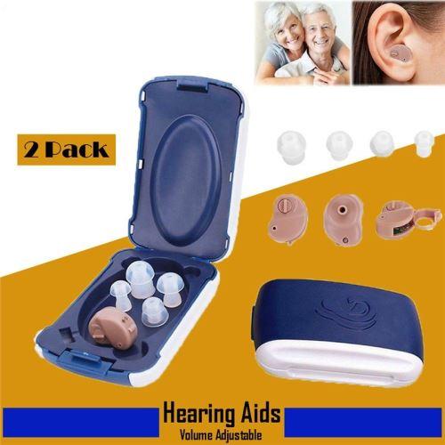Haute Technologie Réglable Mini Ultra Petit Amplificateur De Son Invisible Invisible Antibruit Aide Auditive Dans L'oreille Amélioration Sonore Sourde Aide