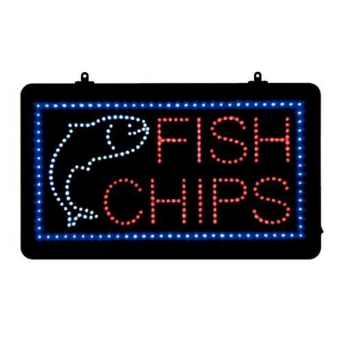 Panneau lumineux fish et chips