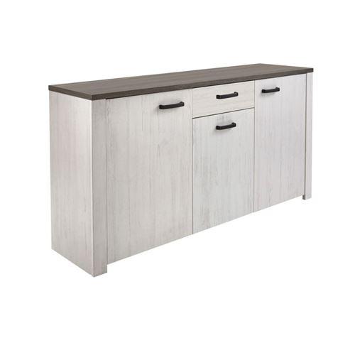 Bahut VALET 3 portes / 1 tiroir pin andersen / chêne prata