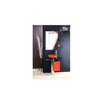 Meuble de salle de bain MANRESA, orange - Installations ...