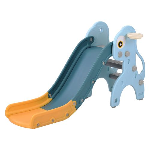 Merax Toboggan 3 en 1 Multifonction pour enfant 2-8 ans, Glisse 145 cm, Bleu