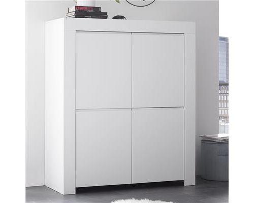Argentier 110 cm design blanc laqué AGATHE