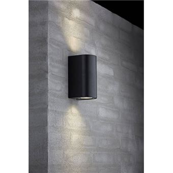 Applique Murale Extérieure Nordlux Canto Maxi Gu10 Noir Luminaires