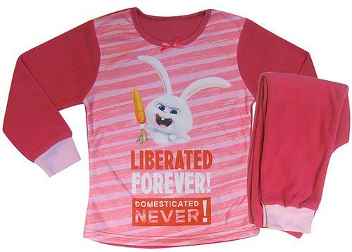 The Secret Life of Pets pyjama polaire fille rose foncé