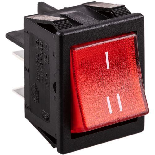 Interrupteur à bascule à lumière rouge à 6 broches DPDT
