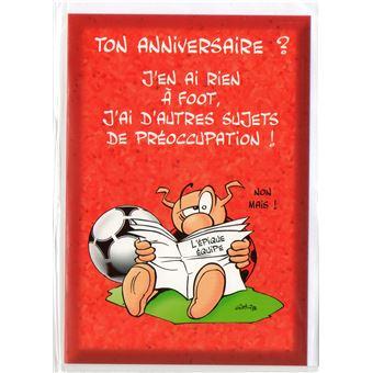 Carte D Anniversaire Enfant Sportif Football 1 Jeux D Eveil Achat Prix Fnac