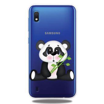 Coque en TPU impression de motifs extrêmement claire panda tenant du bambou pour votre Samsung Galaxy A10