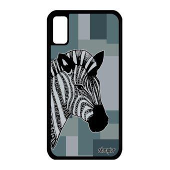 Coque Silicone Zebre Iphone X Dessin Geometrique Noir Et Blanc