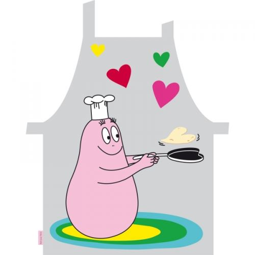 Tablier de cuisine gris barbapapa - petit jour paris