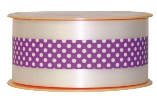 Ruban charlotte pois violet
