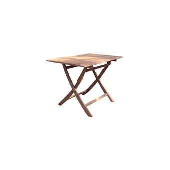 Proloisirs - Table rectangulaire pliante look teck