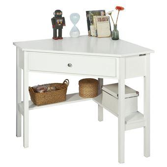 Sobuy Fwt31 W Table Bureau D Angle Bureau Informatique Secretaire Avec Tiroir Blanc