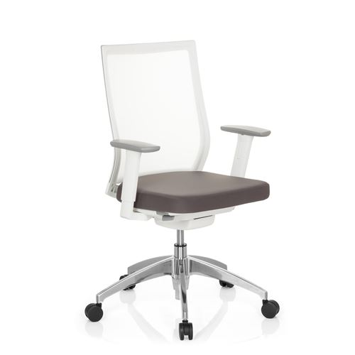 De Bureau Maille Aspen White Tissu Chaise ymvnwN0O8