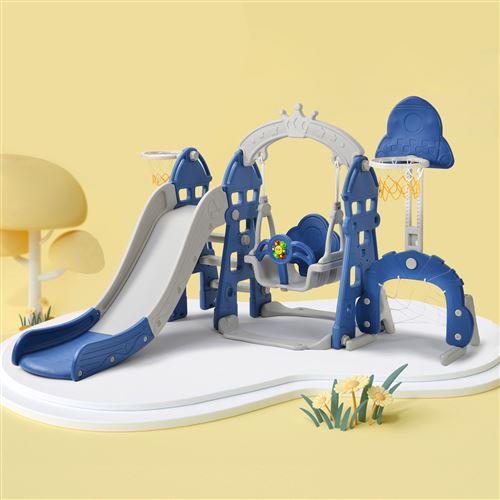 Merax Toboggan 5 en 1 Multifonction pour enfant 2-8 ans, Glisse 170 cm, Bleu